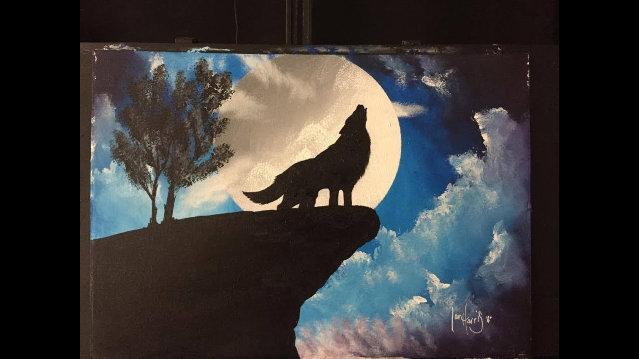 133 how to paint a wolf with