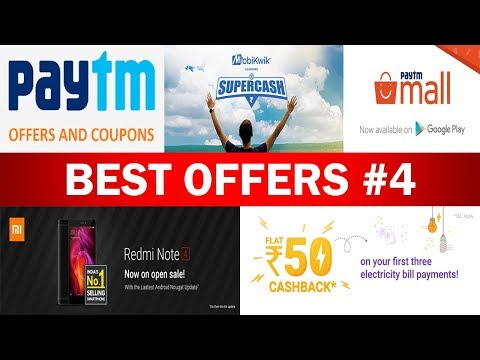 Paytm 250 Cashback, Phonepe 50 Offer, Mobikwik 50% Supercash, Redmi Note 4 Sale, All Recharge Offers
