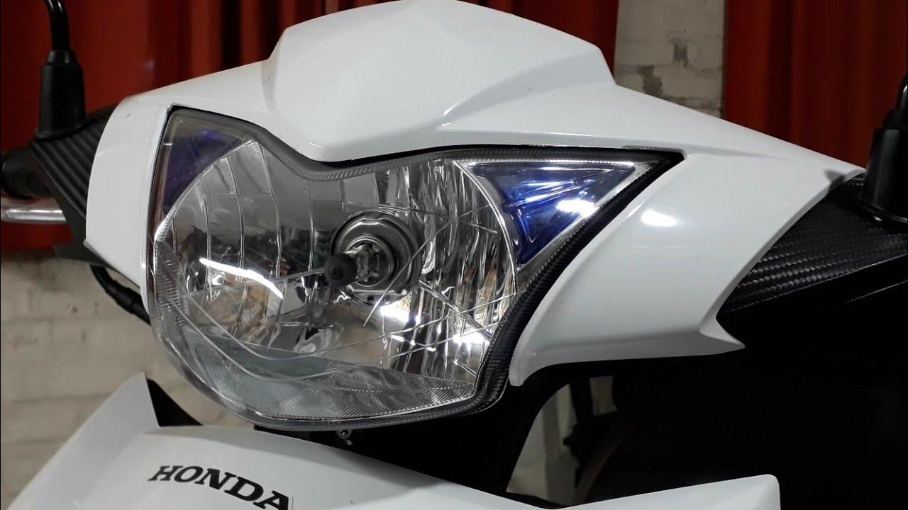 Honda Wave 110 s cambio de lámpara halogena faro delantero principal H4