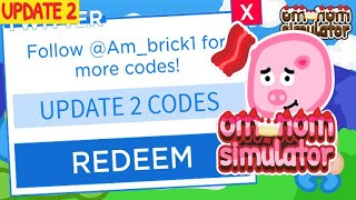 🍰NEW CODES & UPDATE 2!🍰 | OM NOM SIMULATOR | Roblox