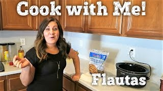 COOK WITH ME | BAKED CHICKEN FLAUTAS w/ SPANISH RICE | PHILLIPS FamBam Cook with Me