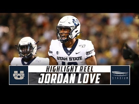 Utah State QB Jordan Love Highlight Reel - 2019 Season   Stadium