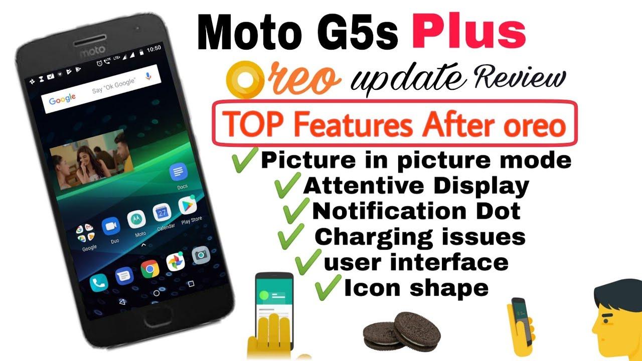 Moto G5s plus Oreo update | Use of PIP mode, theme color, Icon shape, moto  display & moto control 🤩