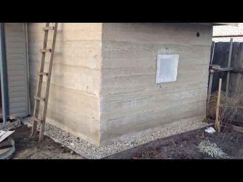 баня из цемента и опилок