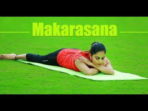 Yoga For beginners Makarasana by Yogarogyam |English