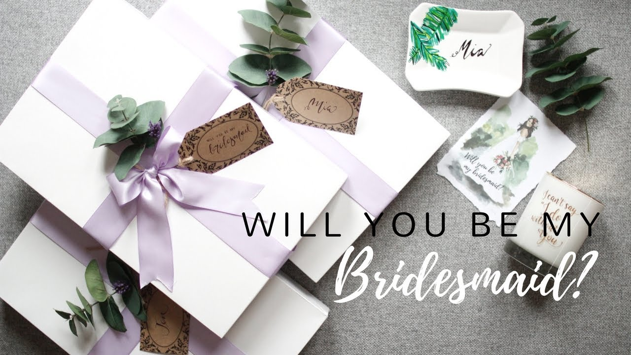 Wedding Gift Ideas Australia: Bridesmaid Proposal Gifts Australia