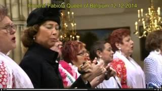 funeral Queen Fabiola of Belgium 12.12.2014.