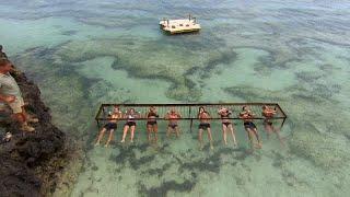 Tuff pristävling där det gäller att hålla andan under vattnet – Robinson (TV4)
