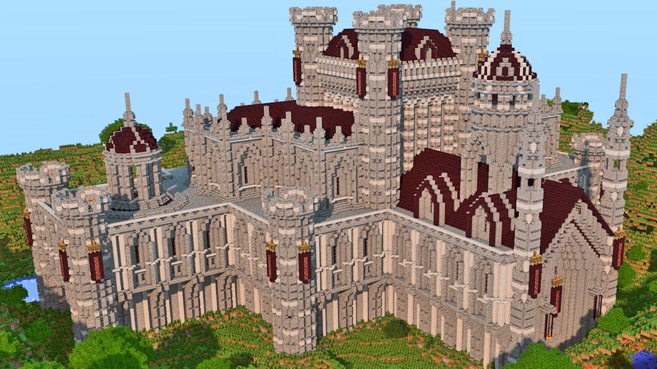 Minecraft construindo um castelo build battle youtube for Minecraft moderno