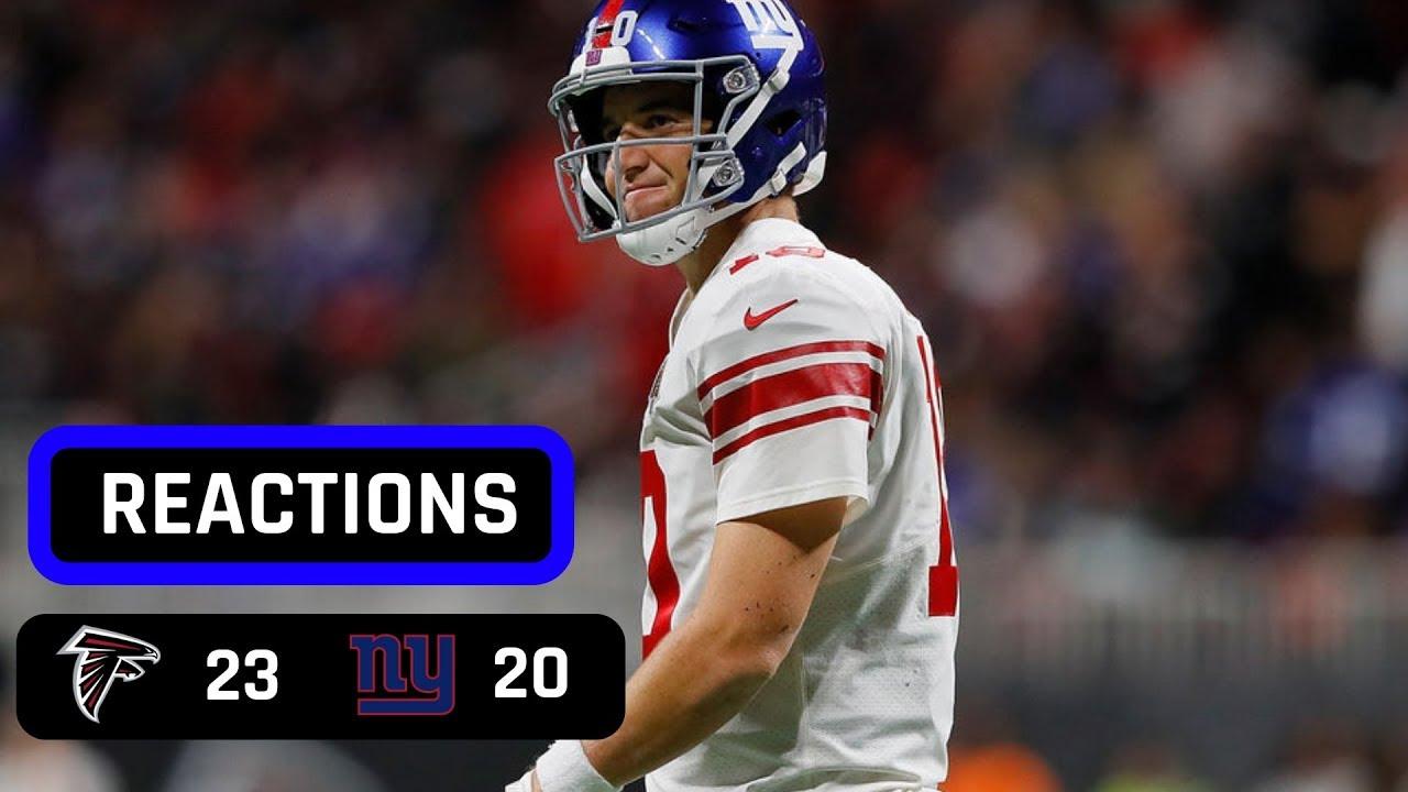 New York Giants Vs Atlanta Falcons Week 7 MNF Recap