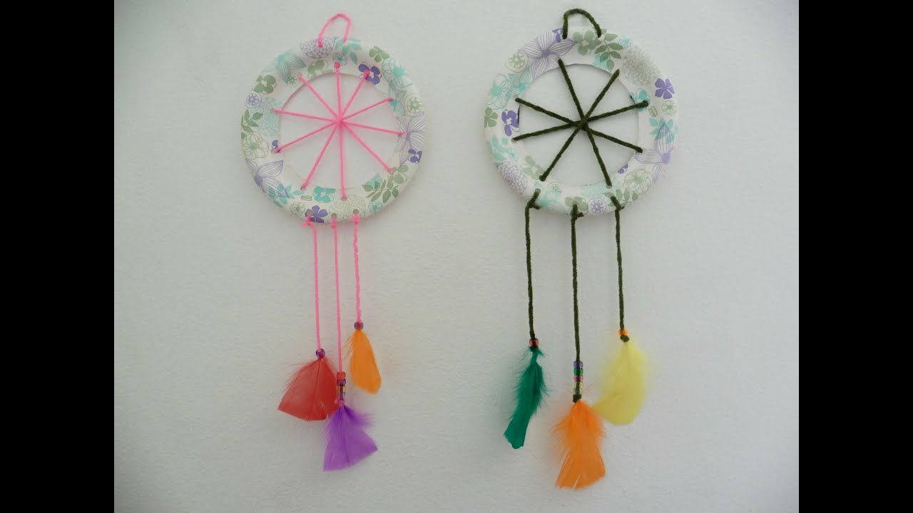 Diy atrapasue os para ni os as dreamcatcher for kids creative flower youtube - Atrapasuenos para ninos ...