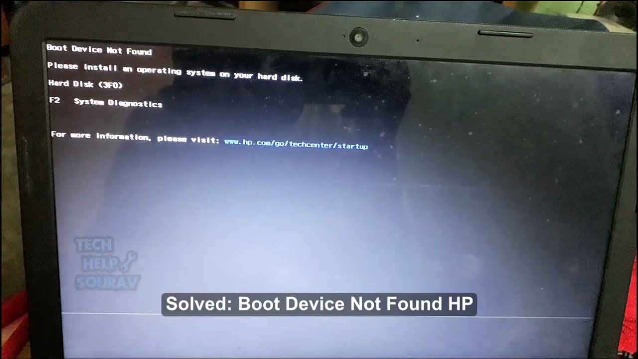 Boot Device Not Found HP – How To Solved