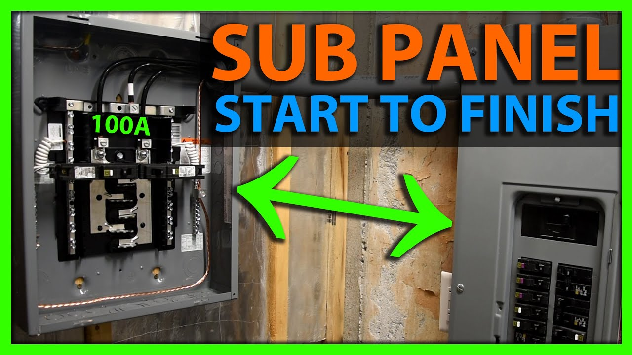 How To Install A Sub Panel Start To Finish