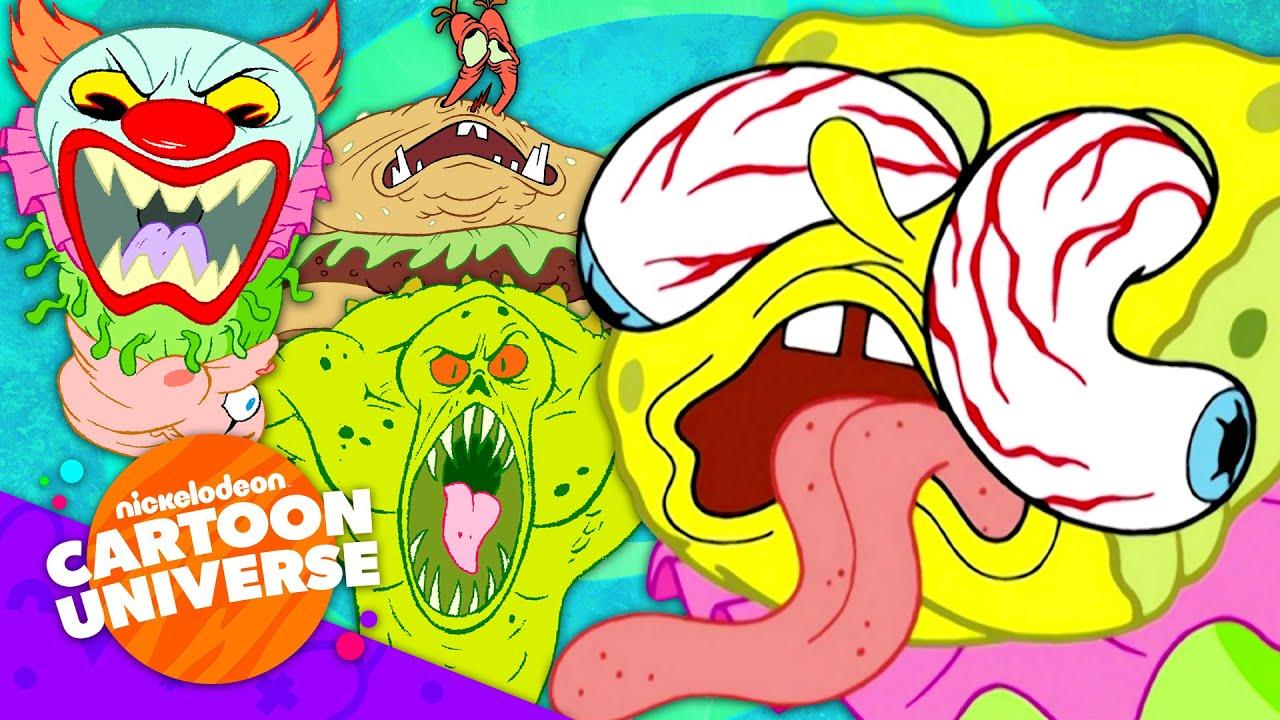 35 of SpongeBob's SCARIEST Moments! 😱 | Nickelodeon Cartoon Universe