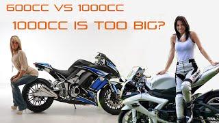 1000cc Sportbikes too Powerfull?? 2cantwist episode 8 600cc vs 1000cc