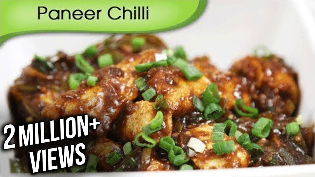 Paneer Chilli Dry Indo Chinese Starter Main Course Recipe By