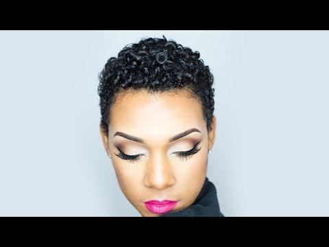TWA Natural Curly Hair Routine No Crunch!!