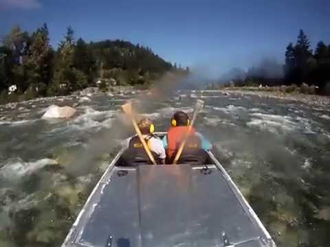 coquihalla river  hope, BC homemade mini jet boat