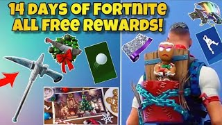 All 14 Days Of Fortnite Gifts Unlocked! (Fortnite: Free Daily Rewards)