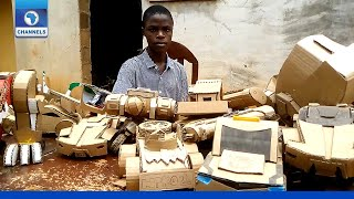 Meet Emmanuel, Creative Teenager Who Builds Robots With Recycled Cartons