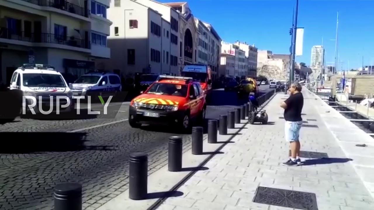 1 killed as car crashes into Marseille bus stop
