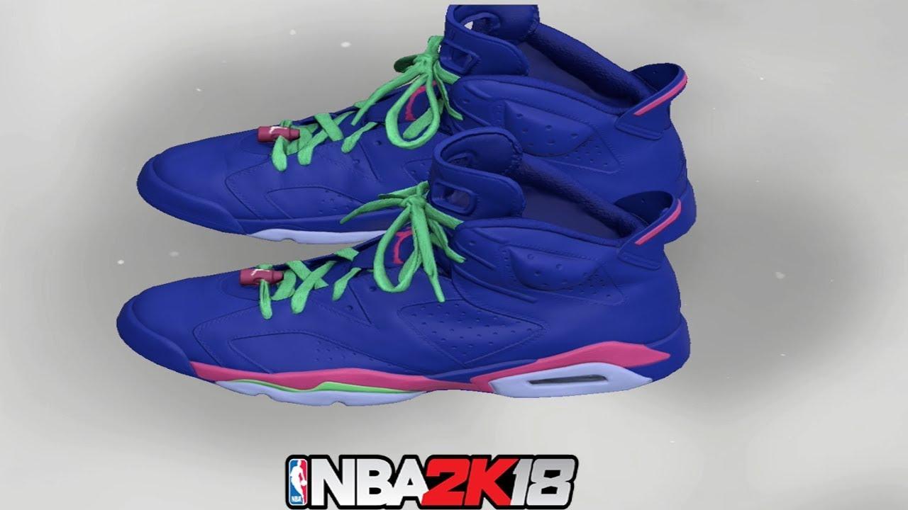 NBA 2K18 Shoe Creator ⋆#NBA2K18⋆ Jordan 6 Royal Blue