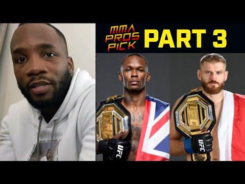 MMA Pros Pick ✅ Israel Adesanya vs. Jan Blachowicz - Part 3 I UFC 259