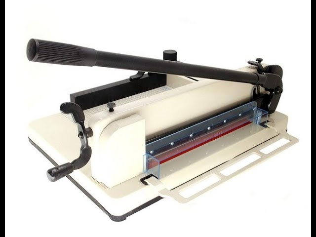 How to Operate a Stack Paper Cutter