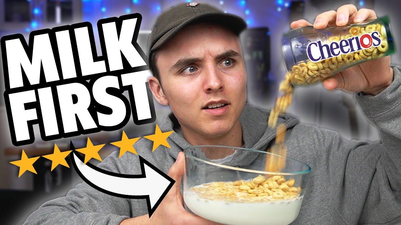 Milk First vs Cereal First (Blind Taste)
