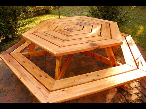 How to Build a Picnic Table - How to Build a Planter Box - Hexagonal Picnic Table [Part 2 of 3 ...