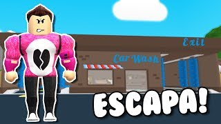 ESCAPES FROM THE CAR WASH | Cerso Roblox in Spanish