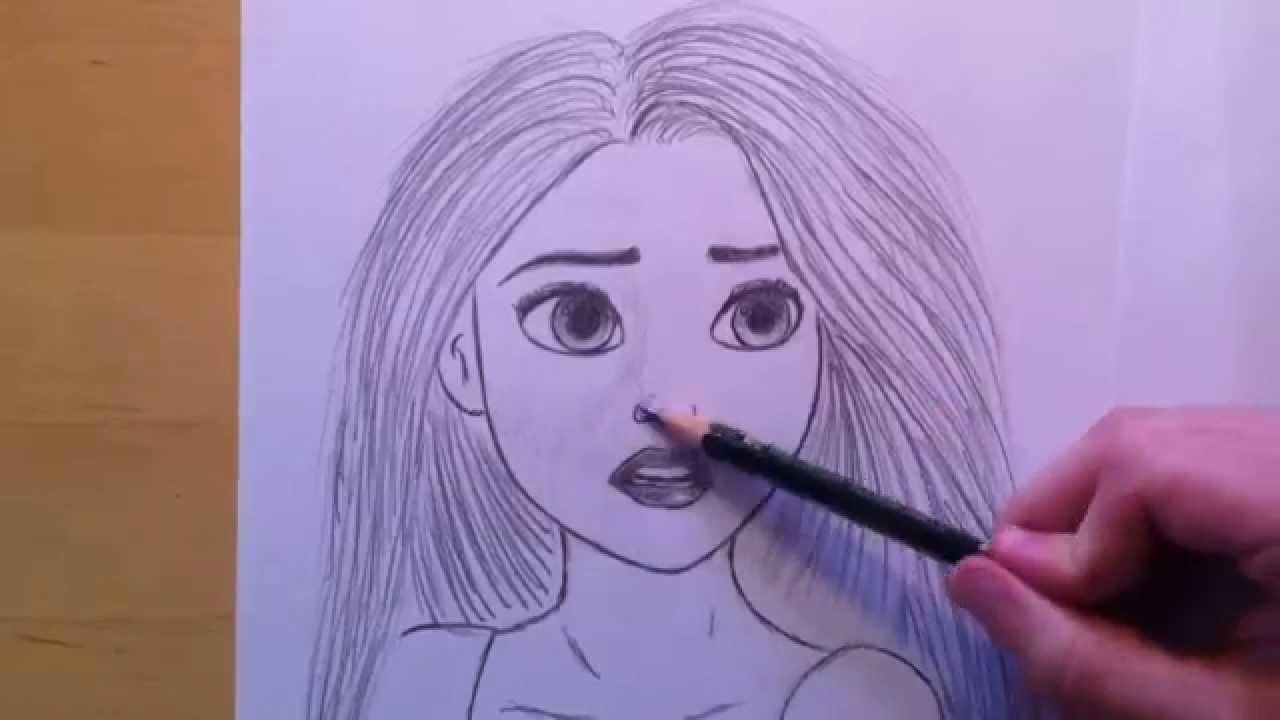 disney prinzessin rapunzel zeichnen