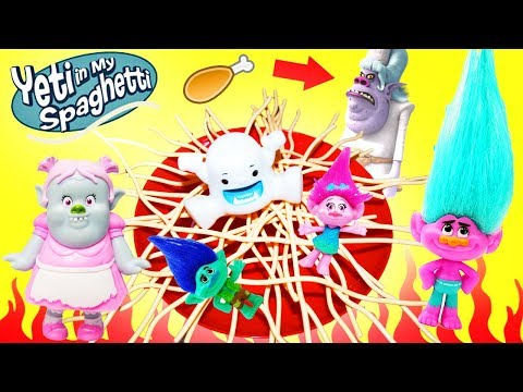Trolls Yeti In My Spaghetti Game! Play along with Poppy, Branch, the Bergen Chef, and Bridget!