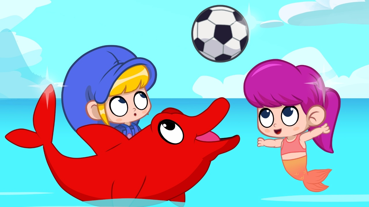 dolphin morphle wants to play animations for kids with dolphins