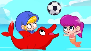 Dolphin Morphle wants to play! Animations For Kids with dolphins, mermaids monkeys and lions
