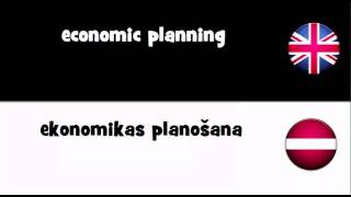 SAY IT IN 20 LANGUAGES = economic planning