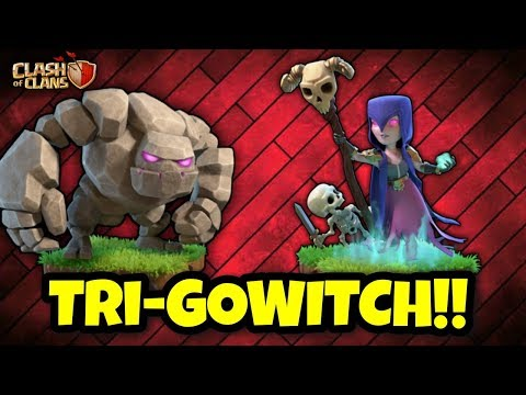 TRI-GOLEM GOBOWITCH | Th9 BEST Army FOR WAR | Clash Of Clans