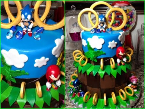 Sonic The Hedgehog Birthday Fondant Cake Youtube