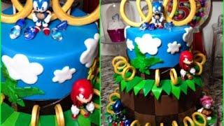 Sonic The Hedgehog Birthday Fondant Cake