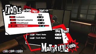 Persona 5 (PS4) - Craftworker Trophy Guide (And Crafting Material farming tips)
