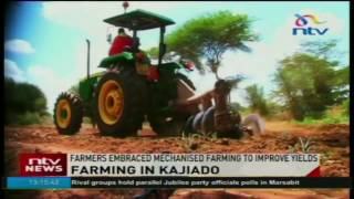 Farmers embraced mechanised farming to improve yields in Kajiado