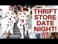 Thrift Date Night Challenge - She Bought My Outfit & I Bought Hers - FUNNY 😂 😂 | RALLI ROOTS VLOG
