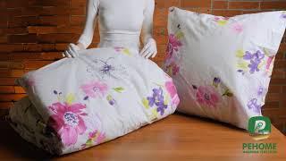 Обзор постельное белье c простыней на резинке Реноме. Отзывы кпб поплин.