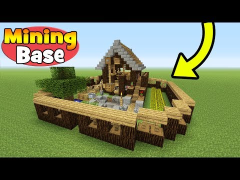 "Minecraft Tutorial: How To Make A Mining Base ""Survival Base"""
