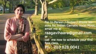 Carnatic Music Lessons-Saamininne Varnam.