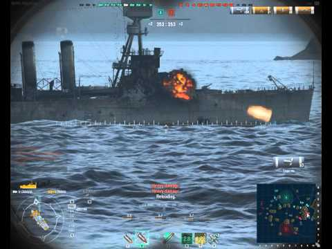 World of Warships Omaha match with the BA boy Sniper4690