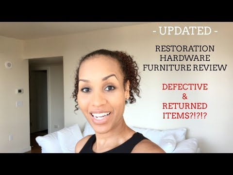 1 MONTH UPDATE | RESTORATION HARDWARE FURNITURE AND UPKEEP