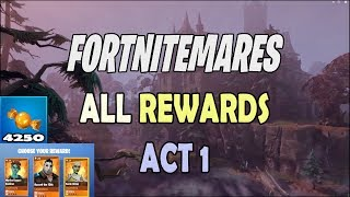 *Spoiler* Fortnite All Fortnitemare Rewards - 4k Candy, Legendary Hero, Gold - Locations for castles