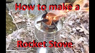How to make a Rocket Stove out of Tin Cans