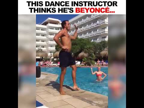 This dance instructor thinks he's Beyoncé... 😂